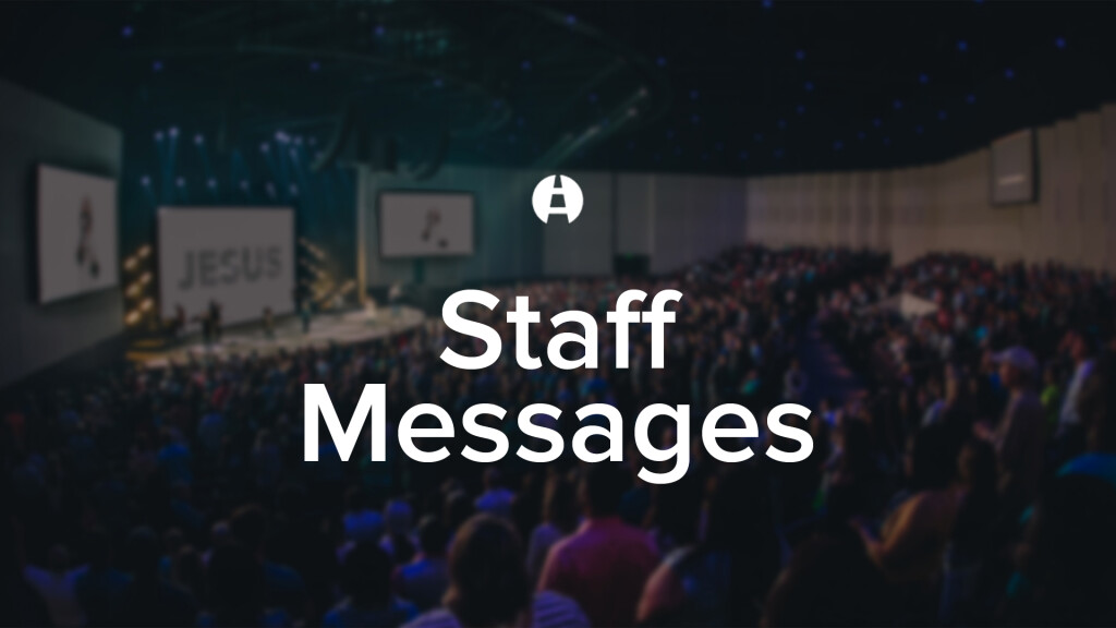 Staff Messages